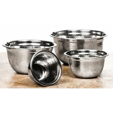 4 Piece High Quality Stainless Steel Mixing Prep Bowls Set