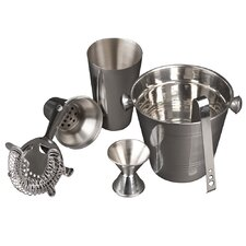 5 Piece Cocktail Shaker and Bar Accessories Set