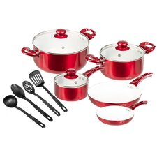 Ceramic Coated 12 Piece Cookware Set