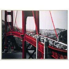 Kunstdruck Autos, Golden Gate Bridge, San Francisco - 61 x 81 cm
