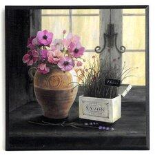 Kunstdruck Kräuter Gartenfenster - 31 x 31 cm