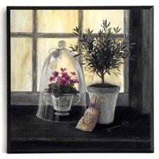 Kunstdruck Lavendel Gartenfenster - 31 x 31 cm