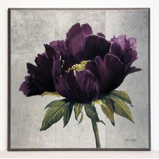 Kunstdruck Violett Pfingstrosen
