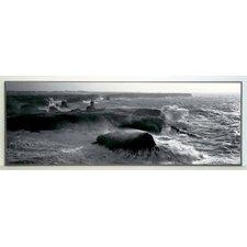 Kunstdruck Leuchtturm von Poulains im Sturm - 34 x 96 cm