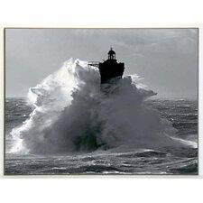 Kunstdruck Leuchtturm von Four im Sturm - 61 x 81 cm