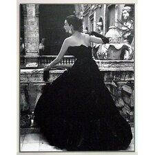 Gerahmtes Kunstdruck Schwarzes Abendkleid Rom