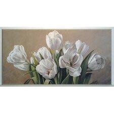 Kunstdruck Weiße Tulpen - 51 x 101 cm