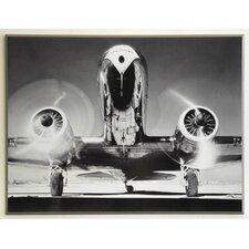 Kunstdruck Vorderansicht eines Passagierflugzeugs - 61 x 81 cm