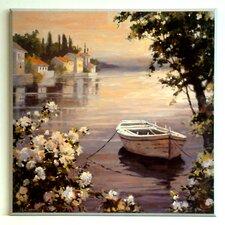 Kunstdruck Boot auf See - 51 x 51 cm