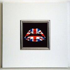 Gerahmter Kunstdruck Englischer Kuss - 40 x 40 cm