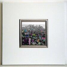 Gerahmter Kunstdruck Flat Iron Gebäude - 40 x 40 cm