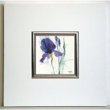 Gerahmter Kunstdruck Iris I - 40 x 40 cm