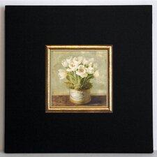 Gerahmter Kunstdruck Hutschachtel Tulpen - 40 x 40 cm