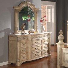 Sienna 12 Drawer Dresser with Mirror