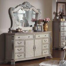 Monaco 8 Drawer Combo Dresser with Mirror