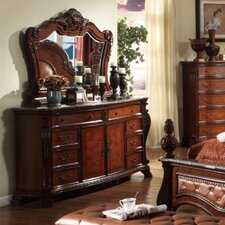 Luxor 8 Drawer Combo Dresser with Mirror