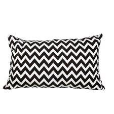 Delano Décor Chevron Flannel Cotton Lumbar Pillow