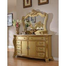 Lavish 8 Drawer Dresser with Mirror