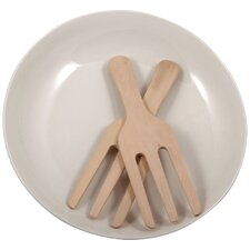 3 Piece Salad Bowl & Utensil Set