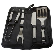 5 Piece Stainless Steel Grilling Tool Set