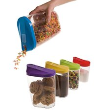 KitchenWorthy 10-Piece Single Canister Container Set