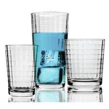 Windowpane 16 Piece Glassware Set
