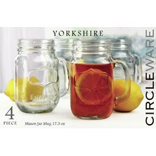 Yorkshire 17.5 Oz. Mason Jar (Set of 4)
