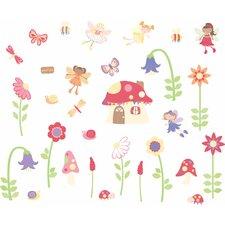 Enchanted Garden Fairies Room Décor Kit Wall Decal