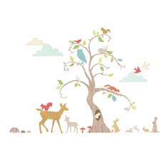 Woodland Tree Room Décor Kit Wall Decal