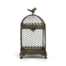 Decorative Vintage Metal Square Bird Cage