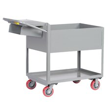 Deep Shelf Steel Utility Cart