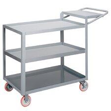 "24"" x 52"" 3-Shelf Utility Cart with Writing Shelf"