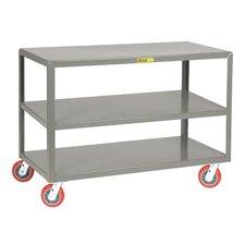 "24"" x 48"" 3-Shelf Utility Cart"