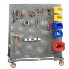 Heavy-Duty Mobile Pegboard A-Frame Lean Bulk Handling Tool Utility Cart