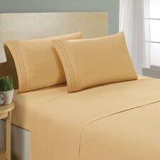 1800 Platinum 4 Piece Microfiber Bed Sheet Set