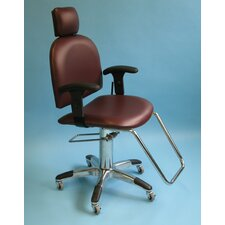 Mammography Chair with Reclining Backrest and Flat Headrest