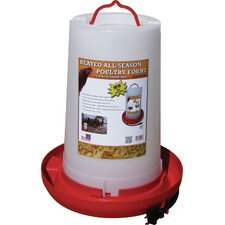 Heated Plastic Poultry Fount