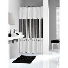 Barcode Vinyl Shower Curtain