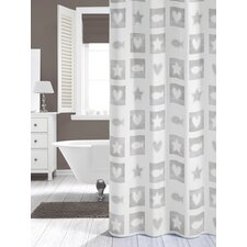 Chalk PEVA Shower Curtain