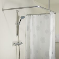 Easy Roll Metal Shower Curtain Rail