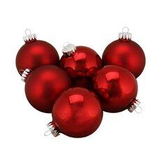 Traditional Glass Ball Christmas Ornament (Set of 6)