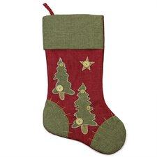 Christmas Tree Stocking with Blanket Stitching Trim