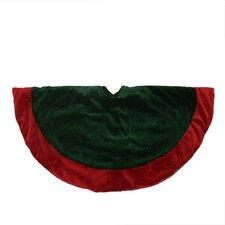 Traditional Velveteen Christmas Tree Skirt