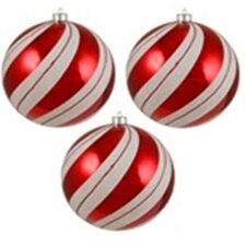 Peppermint Twist Shatterproof Christmas Ornament (Set of 3)