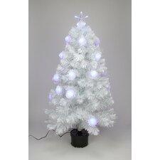 4' White Iridescent Fiber Optic Artificial Christmas Tree