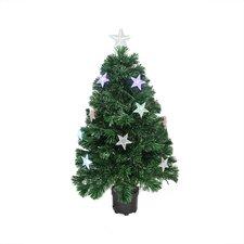 3' Color Changing Fiber Optic Christmas Tree with LED Light Stars