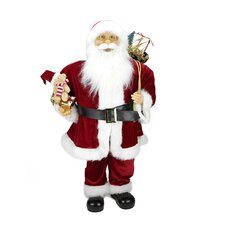 Traditional Standing Santa Claus Christmas Figure