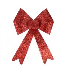 Sparkly Bow Large Christmas Decoration Light