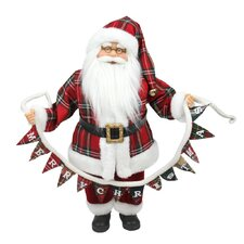 """Santa Claus Holding """"Merry Christmas"""" Banner Tabletop Decoration"""