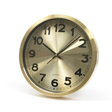 """Basic Luxury 12"""" Wall Mount Analog Clock"""